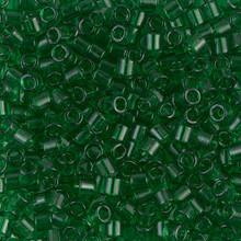 Miyuki Delica Beads, Large, size 8/0, SKU 195008.DBL8-0705, transparent green, (1 10gr tube; apprx 330 beads)