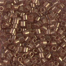 Miyuki Delica Beads, Large, size 8/0, SKU 195008.DBL8-0115, transparent luster metallic rose gold, (1 10gr tube; apprx 330 beads)