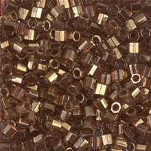 Miyuki Delica Beads, Large, size 8/0, SKU 195008.DBL8-0115cut, transparent luster metallic rose gold cut, (1 10gr tube; apprx 330 beads)