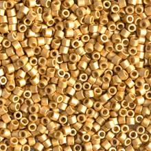 Miyuki 10/0 Medium Delicas, SKU 195016.DBM10-1832F, matte duracoat galvanized gold, (1 10gram tube, apprx 1000 beads)