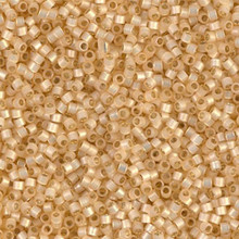 Delica Beads (Miyuki), size 11/0 (same as 12/0), SKU 195006.DB11-0621, beige alabaster silver lined, (10gram tube, apprx 1900 beads)