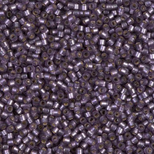 Delica Beads (Miyuki), size 11/0 (same as 12/0), SKU 195006.DB11-0695, violet semi-matte silver lined, (10gram tube, apprx 1900 beads)