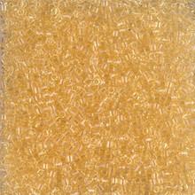 Delica Beads (Miyuki), size 11/0 (same as 12/0), SKU 195006.DB11-1112, transparent light straw, (10gram tube, apprx 1900 beads)