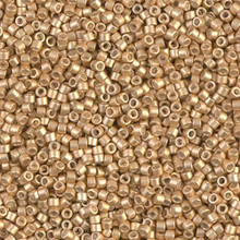 Delica Beads (Miyuki), size 11/0 (same as 12/0), SKU 195006.DB11-1153, galvanized semi-frosted mead, (10gram tube, apprx 1900 beads)