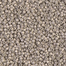 Delica Beads (Miyuki), size 11/0 (same as 12/0), SKU 195006.DB11-1176, galvanized matte ash grey, (10gram tube, apprx 1900 beads)