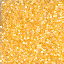 Delica Beads (Miyuki), size 11/0 (same as 12/0), SKU 195006.DB11-1861, silk inside color light apricot AB, (10gram tube, apprx 1900 beads)