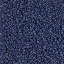 Delica Beads (Miyuki), size 11/0 (same as 12/0), SKU 195006.DB11-2143, opaque dyed navy, (10gram tube, apprx 1900 beads)