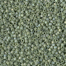 Delica Beads (Miyuki), size 11/0 (same as 12/0), SKU 195006.DB11-2310, matte opaque glazed pistachio AB, (10gram tube, apprx 1900 beads)