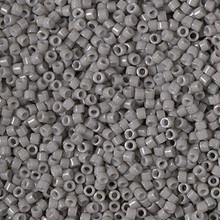 Delica Beads (Miyuki), size 11/0 (same as 12/0), SKU 195006.DB11-2367, duracoat opaque dyed seal gray, (10gram tube, apprx 1900 beads)
