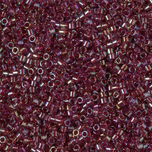 Delica Beads (Miyuki), size 11/0 (same as 12/0), SKU 195006.DB11-2375, inside dyed red, (10gram tube, apprx 1900 beads)