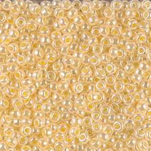 Japanese Miyuki Seed Beads, size 8/0, SKU 189008.MY8-0516, light daffodil ceylon , (1 26-28 gram tube, apprx 1120 beads)