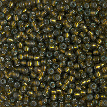 Japanese Miyuki Seed Beads, size 8/0, SKU 189008.MY8-1421, dyed silverlined golden olive, (1 26-28 gram tube, apprx 1120 beads)