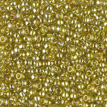 Japanese Miyuki Seed Beads, size 8/0, SKU 189008.MY8-1889, transparent golden olive luster, (1 26-28 gram tube, apprx 1120 beads)