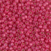 Japanese Miyuki Seed Beads, size 8/0, SKU 189008.MY8-4239, duracoat dyed hibiscus silverlined alabaster, (1 26-28 gram tube, apprx 1120 beads)