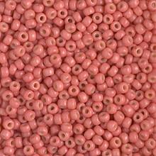 Japanese Miyuki Seed Beads, size 8/0, SKU 189008.MY8-4464, duracoat dyed opaque light watermelon, (1 26-28 gram tube, apprx 1120 beads)