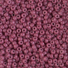 Japanese Miyuki Seed Beads, size 8/0, SKU 189008.MY8-4468, duracoat dyed opaque pansy, (1 26-28 gram tube, apprx 1120 beads)