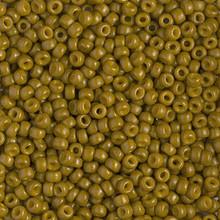 Japanese Miyuki Seed Beads, size 8/0, SKU 189008.MY8-4491, duracoat dyed opaque spanish olive, (1 26-28 gram tube, apprx 1120 beads)
