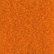 Japanese Miyuki Seed Beads, size 15/0, SKU 189015.MY15-0138, transparent orange,  (1 12-13gram tube - apprx 3500 beads)