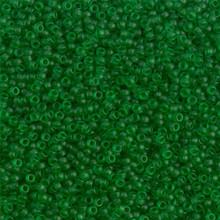 Japanese Miyuki Seed Beads, size 15/0, SKU 189015.MY15-0143F, matte transparent chartreuse,  (1 12-15gram tube - apprx 3500 beads)
