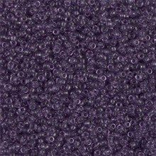 Japanese Miyuki Seed Beads, size 15/0, SKU 189015.MY15-0157, transparent amethyst,  (1 12-13gram tube - apprx 3500 beads)