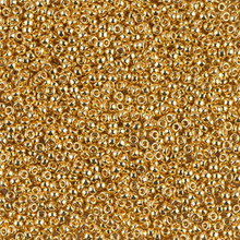 Japanese Miyuki Seed Beads, size 15/0, SKU 189015.MY15-0191, 24KT gold plated,  (5 gram tube)
