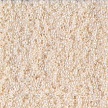 Japanese Miyuki Seed Beads, size 15/0, SKU 189015.MY15-0592, antique ivory pearl ceylon,  (1 12-15gram tube - apprx 3500 beads)
