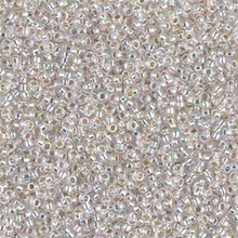 Japanese Miyuki Seed Beads, size 15/0, SKU 189015.MY15-1001, silverlined crystal AB,  (1 12-13gram tube - apprx 3500 beads)