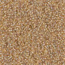Japanese Miyuki Seed Beads, size 15/0, SKU 189015.MY15-1003, silverlined gold AB,  (1 12-13gram tube - apprx 3500 beads)