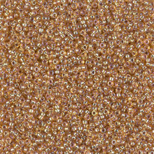 Japanese Miyuki Seed Beads, size 15/0, SKU 189015.MY15-1004, silverlined dark gold AB,  (1 12-15gram tube - apprx 3500 beads)