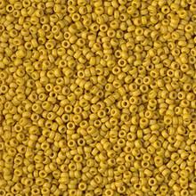 Japanese Miyuki Seed Beads, size 15/0, SKU 189015.MY15-1233, matte opaque mustard,  (1 12-15gram tube - apprx 3500 beads)