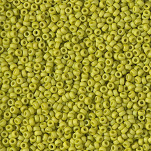 Japanese Miyuki Seed Beads, size 15/0, SKU 189015.MY15-2316, matte opaque lime,  (1 12-15gram tube - apprx 3500 beads)