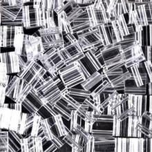 Miyuki Tila Beads, 5x5x1.9mm, 2-parallel 0.8mm holes, SKU 501000.TL-0131, crystal, 9.5 gram tube, apprx  104 beads, (1 tube)
