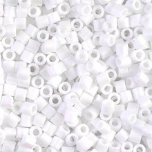 Miyuki Delica Beads, Large, size 8/0, SKU 195008.DBL8-0351, matte white, (1 10gr tube; apprx 330 beads)