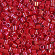 Miyuki Delica Beads, Large, size 8/0, SKU 195008.DBL8-0214, Opaque Red Luster, (1 10gr tube; apprx 330 beads)