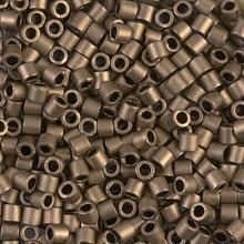 Miyuki Delica Beads, Large, size 8/0, SKU 195008.DBL8-0322, matte metallic bronze, (1 10gr tube; apprx 330 beads)