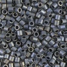Miyuki Delica Beads, Large, size 8/0, SKU 195008.DBL8-0307, matte metallic silver/gray, (1 10gr tube; apprx 330 beads)