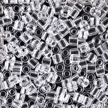 Miyuki Delica Beads, Large, size 8/0, SKU 195008.DBL8-0141, transparent crystal, (1 10gr tube; apprx 330 beads)