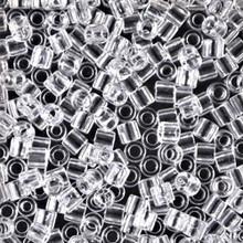 Miyuki Delica Beads, Large, size 8/0, SKU 195008.DBL8-0141, transparent crystal, (1 10gr tube; apprx 330 beads)
