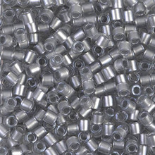 Miyuki Delica Beads, Large, size 8/0, SKU 195008.DBL8-0271, Galvanized Crystal, (1 10gr tube; apprx 330 beads)