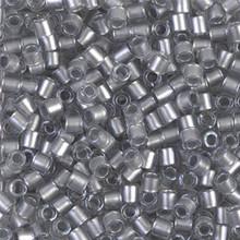 Miyuki Delica Beads, Large, size 8/0, SKU 195008.DBL8-0271, Galvanized Crystal, (1 10gr tube; apprx 330 beads)