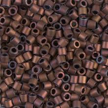 Miyuki Delica Beads, Large, size 8/0, SKU 195008.DBL8-0312, mattte metallic copper, (1 10gr tube; apprx 330 beads)