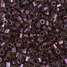 Miyuki Delica Beads, Large, size 8/0, SKU 195008.DBL8-0012cut, metallic raspberry cut, (1 10gr tube; apprx 330 beads)