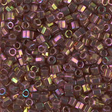 Miyuki Delica Beads, Large, size 8/0, SKU 195008.DBL8-0103cut, gold red luster cut, (1 10gr tube; apprx 330 beads)