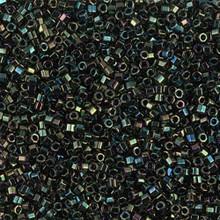 Delica Beads (Miyuki), size 11/0 (same as 12/0), 003cut, green iris cut, (10gram tube, apprx 1900 beads)