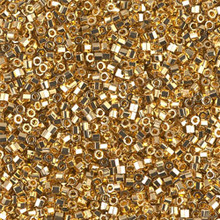 Delica Beads (Miyuki), size 11/0 (same as 12/0), SKU 195006.DB11-0031cut, bright gold 24KT cut, (5gram tube, apprx 950 beads)