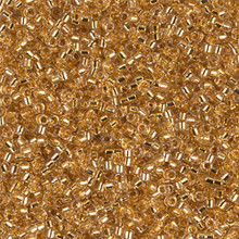 Delica Beads (Miyuki), size 11/0 (same as 12/0), SKU 195006.DB11-0033, lined gold 24KT, (5gram tube, apprx 950 beads)