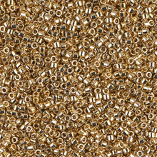 Delica Beads (Miyuki), size 11/0 (same as 12/0), SKU 195006.DB11-0034, light gold 24KT, (5gram tube, apprx 950 beads)