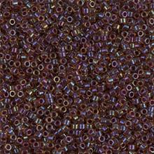 Delica Beads (Miyuki), size 11/0 (same as 12/0), SKU 195006.DB11-0061, lined wine ab, (10gram tube, apprx 1900 beads)