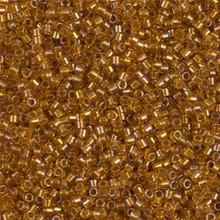 Delica Beads (Miyuki), size 11/0 (same as 12/0), 065, lined topaz ab, (10gram tube, apprx 1900 beads)
