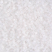 Delica Beads (Miyuki), size 11/0 (same as 12/0), SKU 195006.DB11-0220, white opal, (10gram tube, apprx 1900 beads)